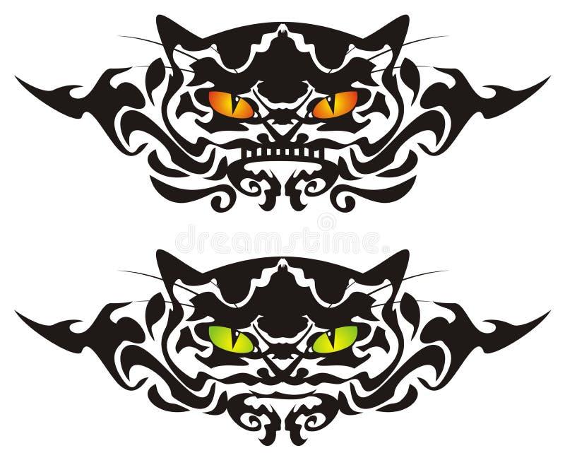 Occhi di gatto tribali illustrazione vettoriale
