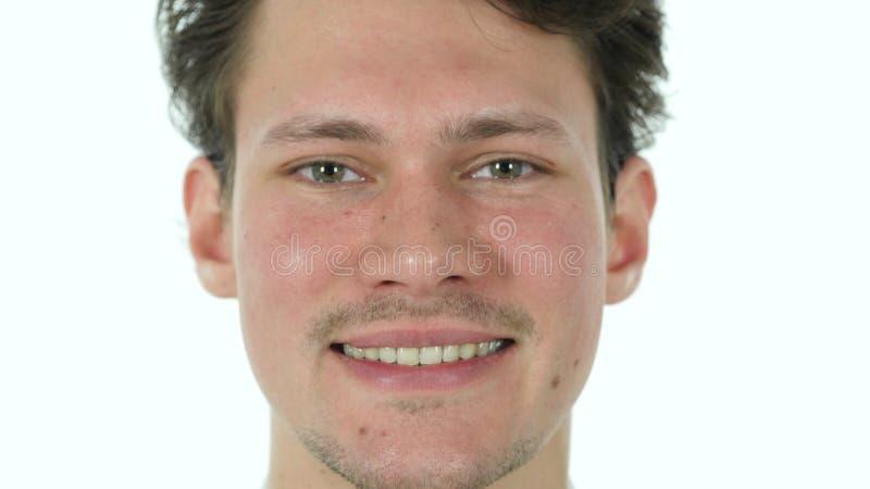 Occhi di lampeggiamento del giovane, guardanti in camera fotografie stock libere da diritti