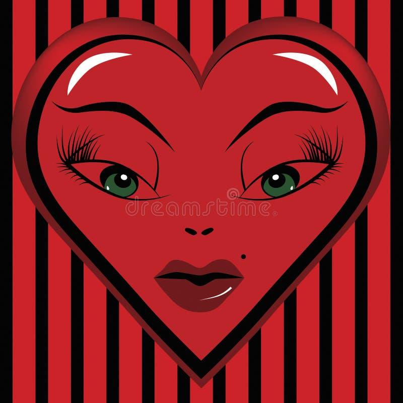 Occhi di un innamorato del biglietto di S. Valentino immagine stock libera da diritti