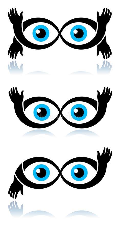 Occhi divertenti royalty illustrazione gratis