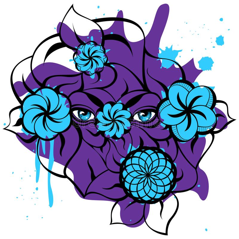 Occhi misteriosi - Violet Card fotografie stock