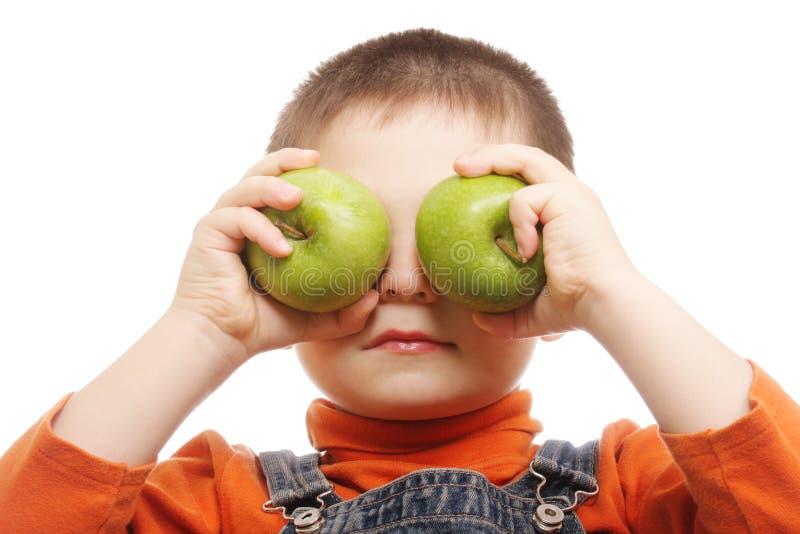 Occhi verdi della mela fotografia stock libera da diritti