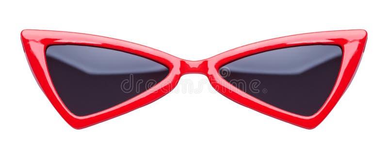 Occhiali da sole aguzzi rossi fotografia stock libera da diritti