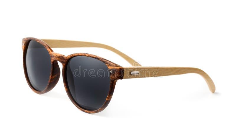 Occhiali da sole di legno fotografia stock