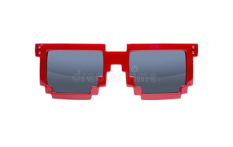 Occhiali da sole di Pixelated isolati su bianco fotografia stock libera da diritti