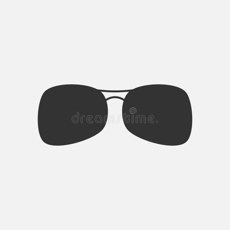 Occhiali da sole icona, vetri, occhiali, estate illustrazione di stock
