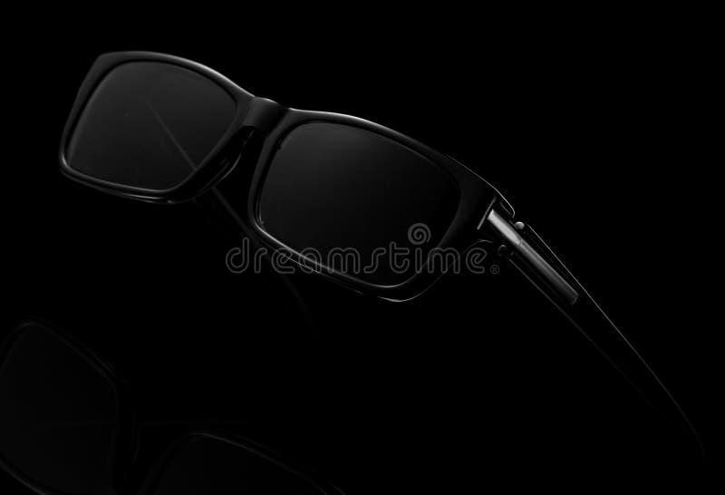 Occhiali da sole neri fotografia stock libera da diritti