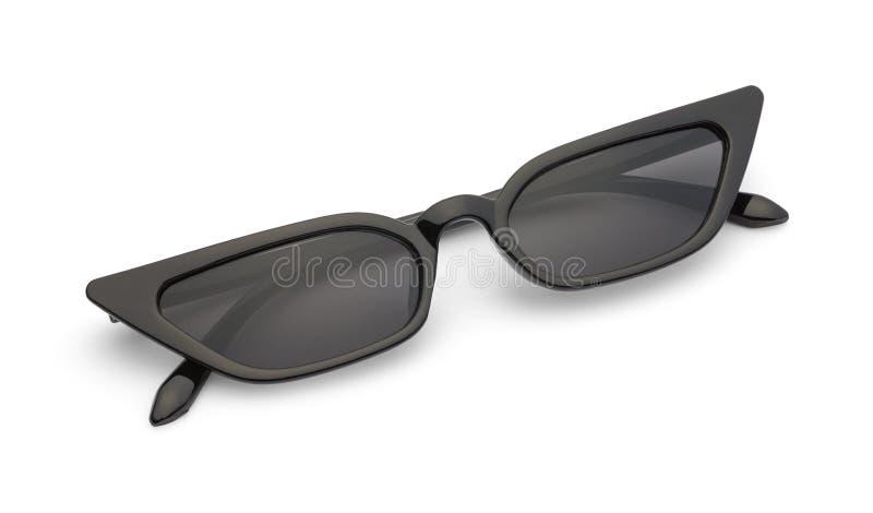 Occhiali da sole neri esili piegati immagine stock