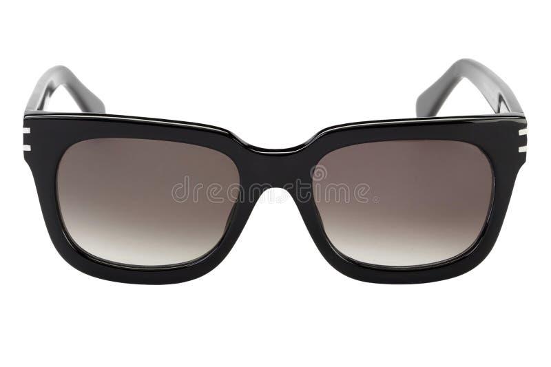 Occhiali da sole neri isolati immagine stock