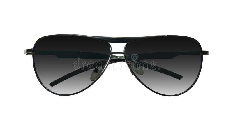 Occhiali da sole neri su bianco immagine stock libera da diritti