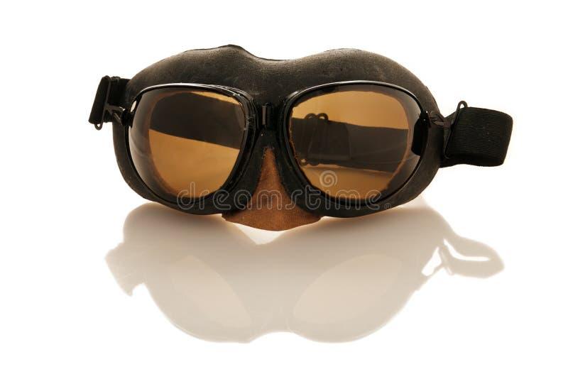 Occhiali di protezione del pilota fotografie stock