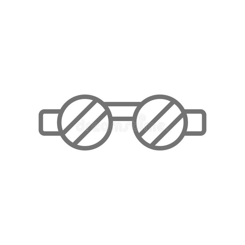 Occhiali di protezione del saldatore, linea icona di protezione degli occhi illustrazione di stock