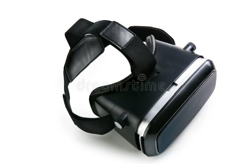 Occhiali di protezione di realtà virtuale di vetro di realtà virtuale, backgroun bianco immagini stock libere da diritti