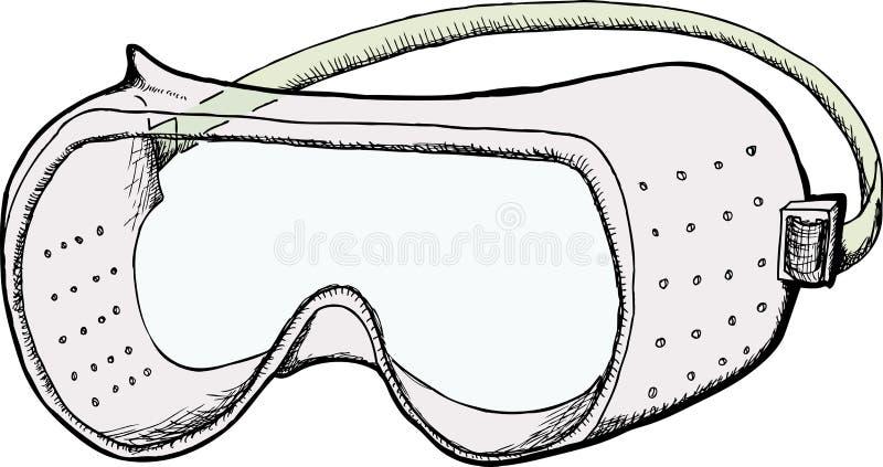 Occhiali di protezione di sicurezza illustrazione di stock