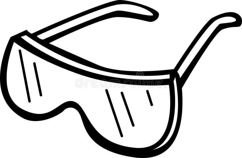 Occhiali di protezione di sicurezza illustrazione vettoriale