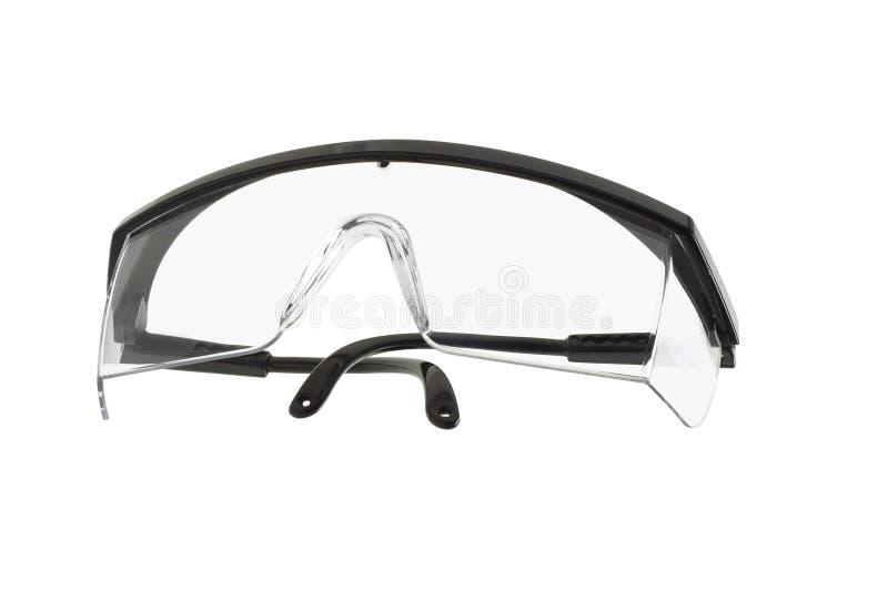 Occhiali di protezione di sicurezza di plastica immagini stock libere da diritti