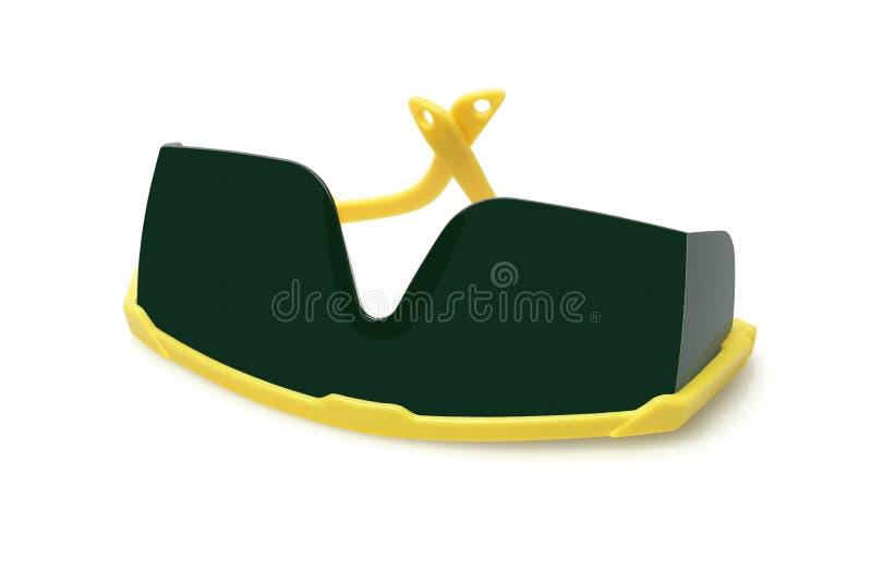 Occhiali di protezione di sicurezza di plastica fotografia stock libera da diritti