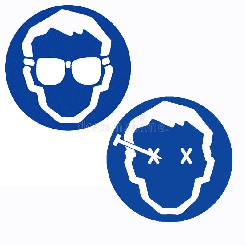 Occhiali di protezione di sicurezza di usura royalty illustrazione gratis