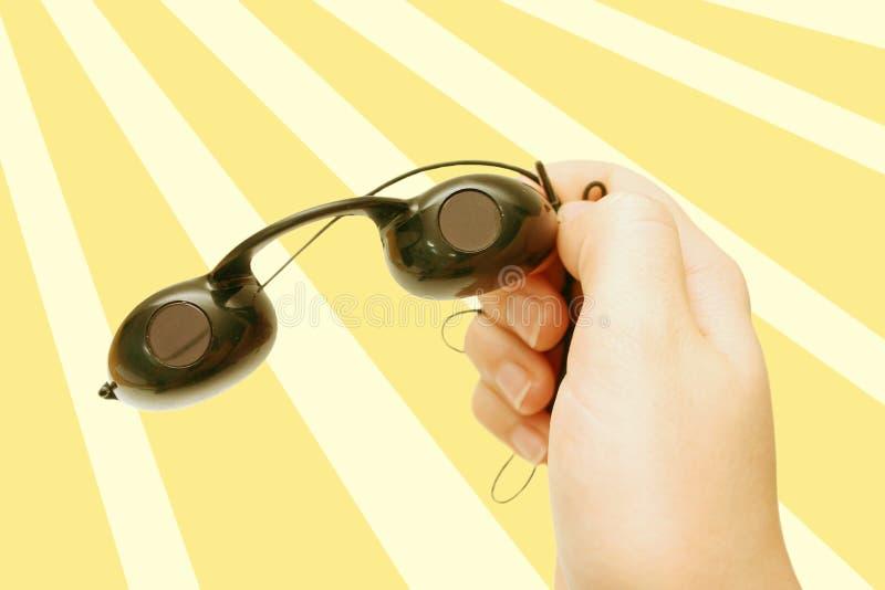 Occhiali Di Protezione Di Suntan Immagini Stock Libere da Diritti