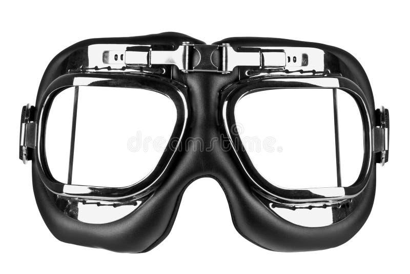Occhiali di protezione di volo isolati con il percorso di residuo della potatura meccanica fotografia stock