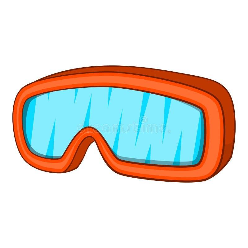 Occhiali di protezione icona, stile di sport dello sci del fumetto royalty illustrazione gratis