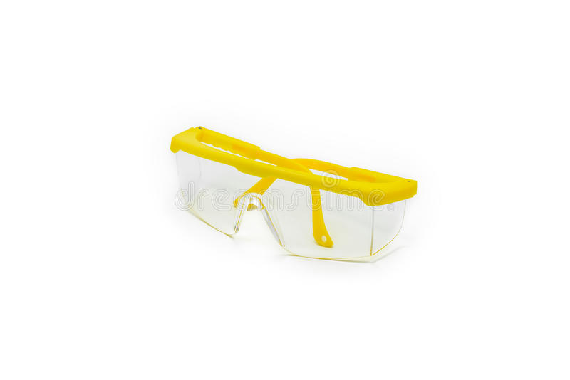 Occhiali di protezione isolati immagini stock libere da diritti