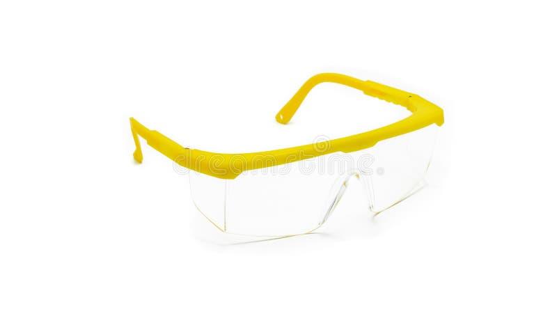 Occhiali di protezione isolati fotografie stock