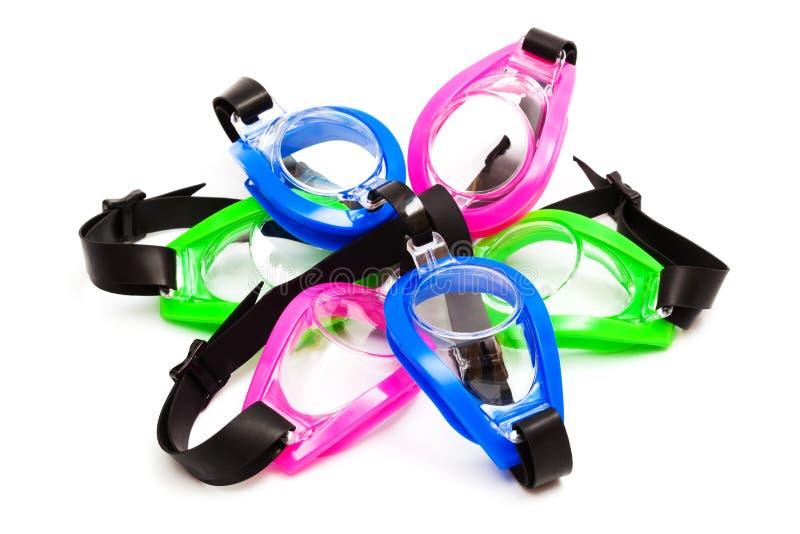 Occhiali di protezione per nuoto immagini stock