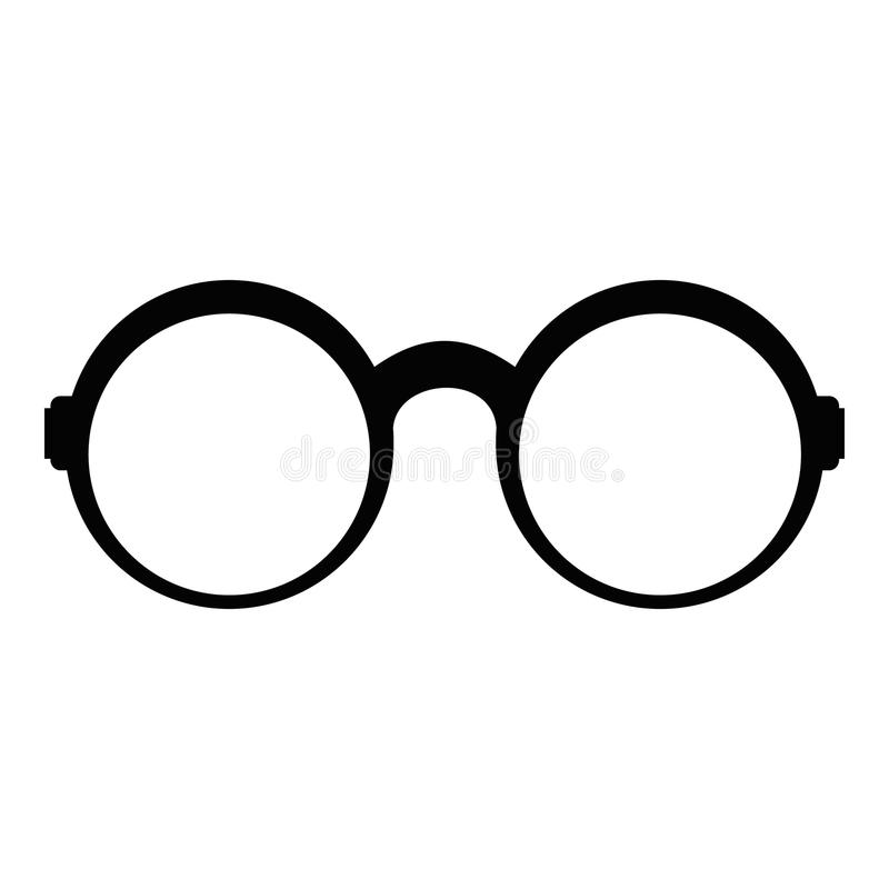 Occhiali per la lettura dell'icona, stile semplice illustrazione di stock