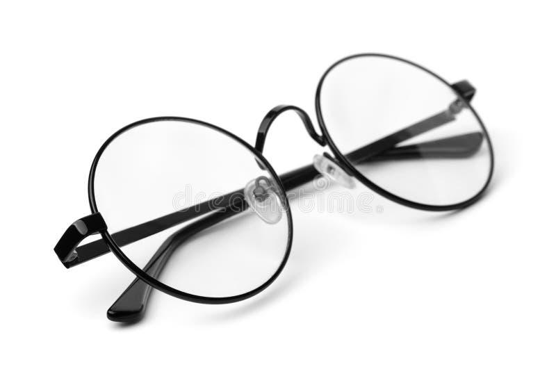 Occhiali rotondi classici neri immagini stock libere da diritti