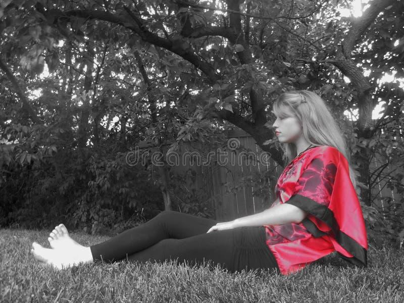 Occhiata di colore rosso fotografia stock