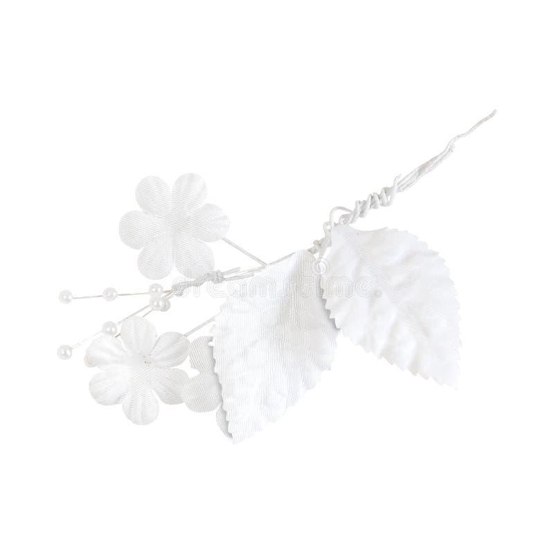 Occhiello bianco artificiale di cerimonia nuziale immagine stock