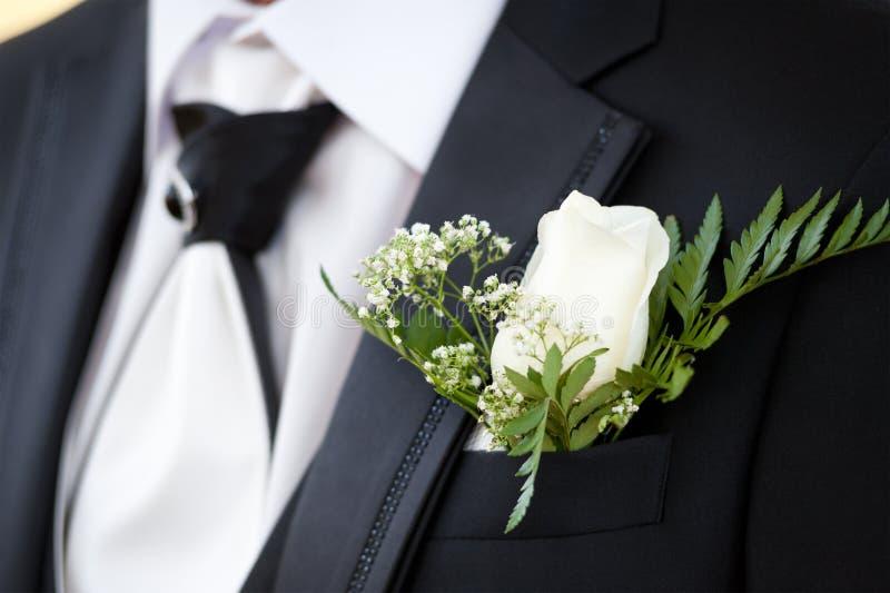 Occhiello dello sposo fotografie stock