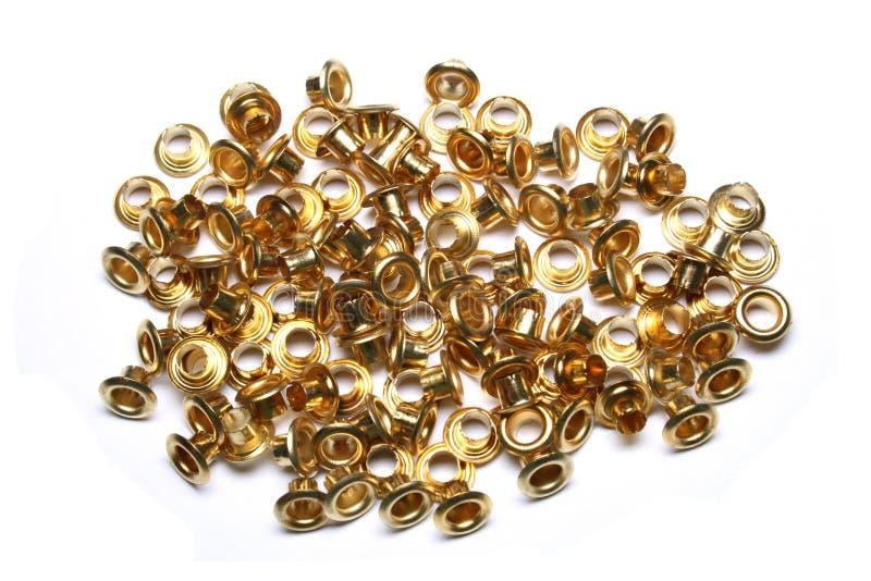 Occhiello dorato fotografie stock libere da diritti