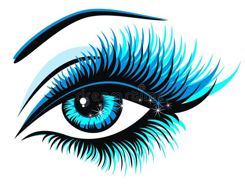 Occhio azzurro. Illustrazione di vettore   royalty illustrazione gratis