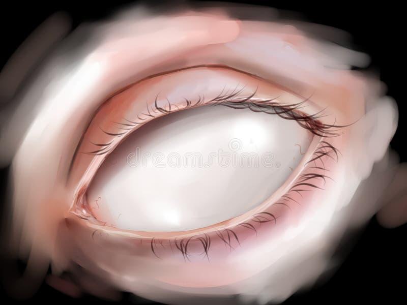 Occhio cieco fotografie stock