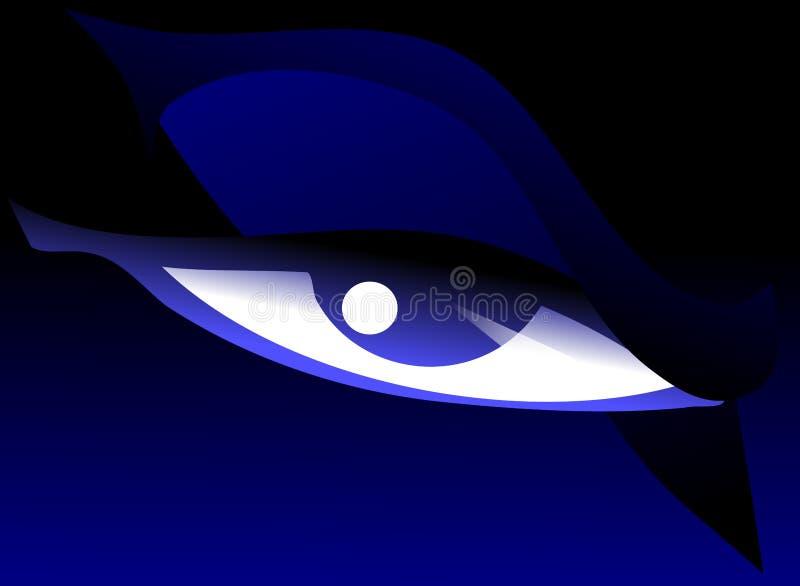 Occhio con lo sguardo di rabbia illustrazione vettoriale