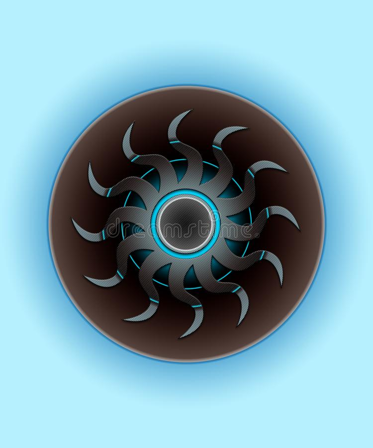 Occhio del cyborg dai progetti dei CD illustrazione vettoriale