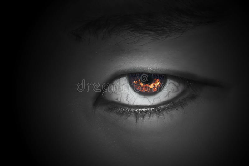 Occhio del diavolo fotografie stock libere da diritti