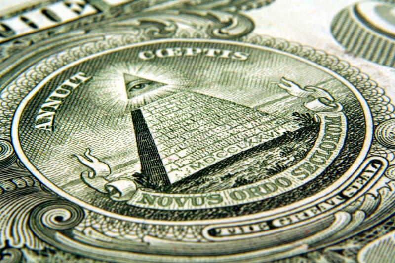 Occhio del dollaro fotografie stock