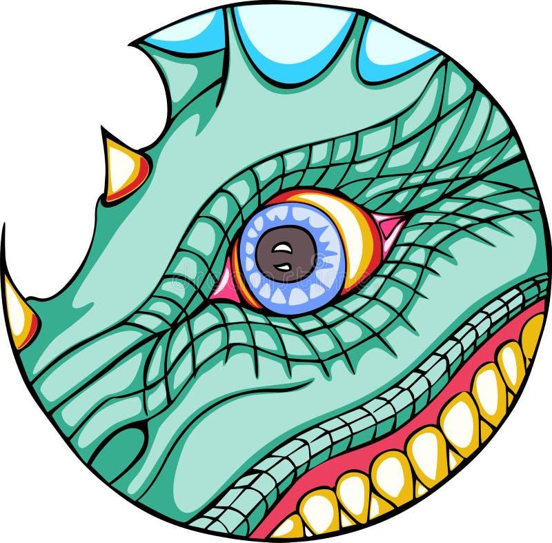 Occhio del drago royalty illustrazione gratis