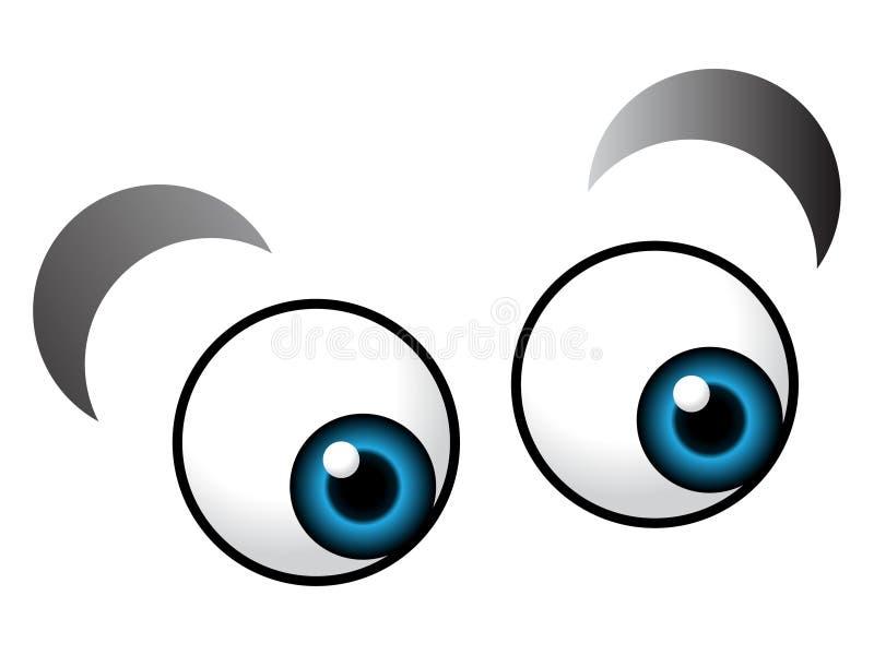 occhio del fumetto illustrazione vettoriale
