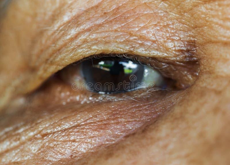 Occhio del ` s della donna anziana fotografia stock libera da diritti