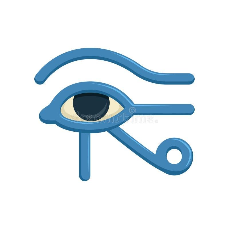 Occhio della divinità di Horus Egitto, occhio di Ra, segno mistico geroglifico egiziano antico, simbolo dell'egitto antico, vetto illustrazione di stock