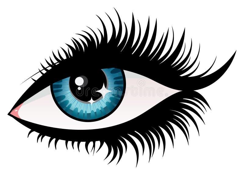 Occhio della donna illustrazione vettoriale