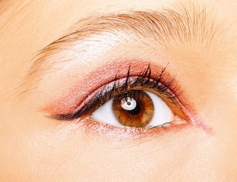 Occhio della fine della donna in su. fotografia stock