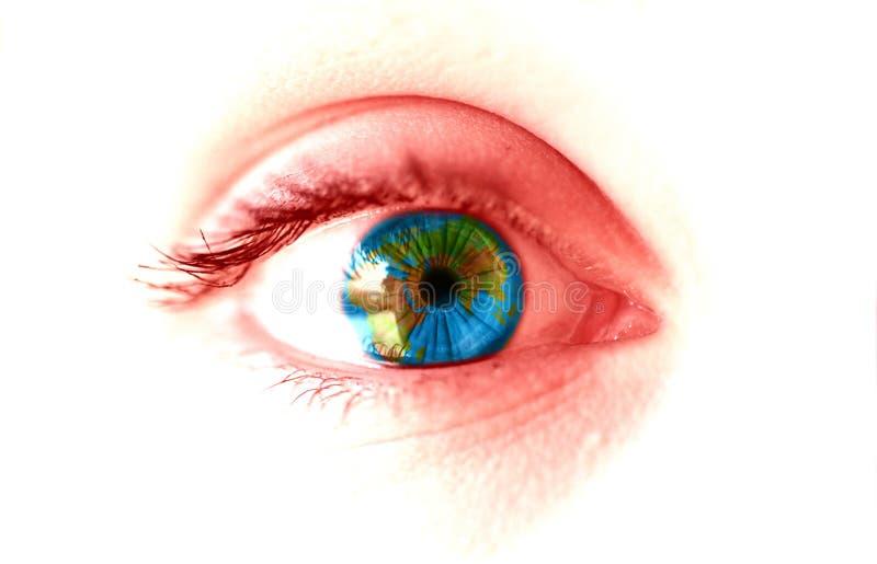 Occhio della terra fotografia stock