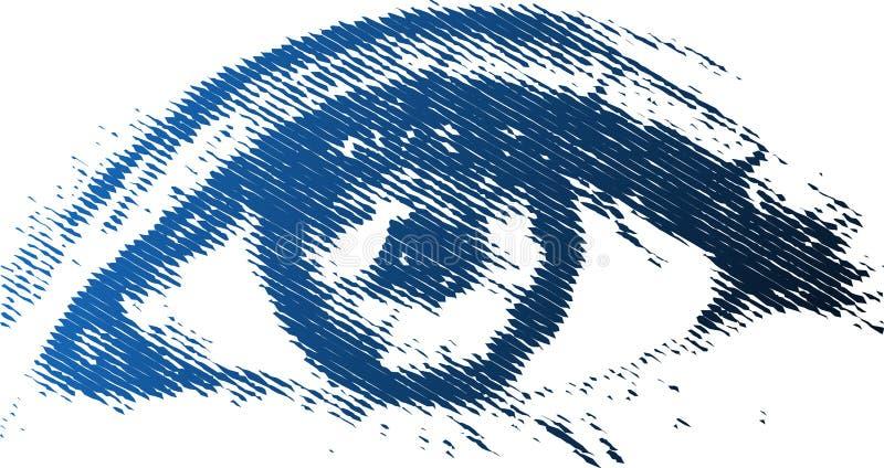 Occhio di Digitahi immagine stock libera da diritti