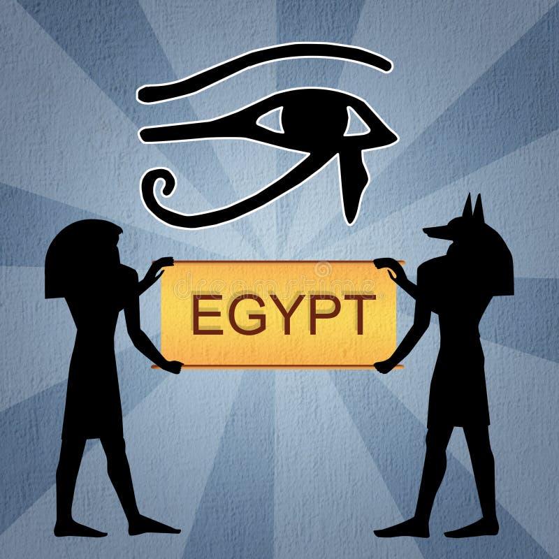 Occhio di Horus dell'Egiziano royalty illustrazione gratis