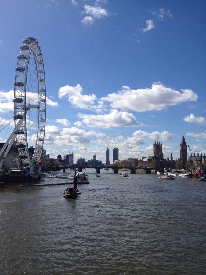 Occhio di Londra e grande ben fotografia stock libera da diritti